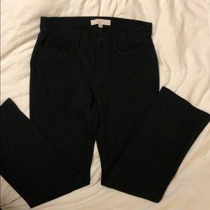 Black stretch bootcut Loft pants